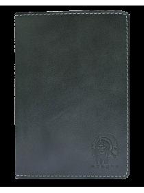 Бумажник водителя натуральная кожа ОВ-А дымчато-черный Apache
