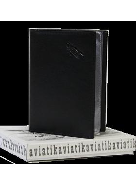 Бумажник водителя мужской А-БС-2 черного цвета Авиатика