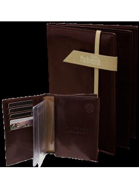 Обложка для паспорта и автодокументов мужская МВП-3 о2 черная Mackintosh Studio
