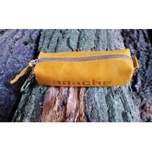 Чехол для ключей из натуральной кожи К-23-А Apache табачно-желтый