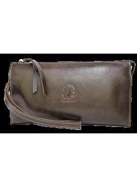 Клатч портмоне мужское кожаное БМ-А дымчато-коричневое Apache