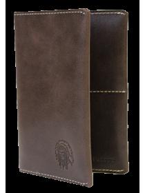 Обложка на паспорт ОП-2-A дымчато-коричневая Apache