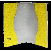 Обложка для паспорта женская натуральная кожа ОП-Ф аляска желтая Person