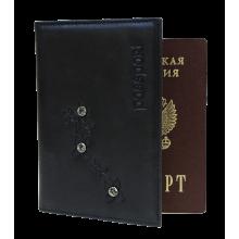 Обложка для паспорта ОПВ- Мэри женская друид черный Kniksen