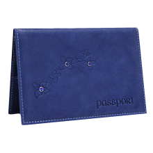 Обложка для паспорта женская кожаная ОПВ Мэри друид синий Kniksen
