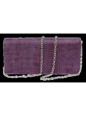 Клатч женский кожаный фиолетовый № 4 Person
