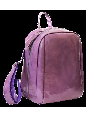 Кожаный женский рюкзак друид P-9013-A Lilac Candy Apache