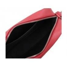 Женская сумка кросс боди натуральная кожа Libellula красный коралл Person