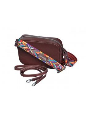 Женская сумка кросс боди натуральная кожа Libellula бордо Person