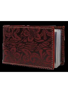 Кожаный футляр для визиток ВМ-Ф аляска красная Person
