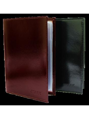 Автобумажник из натуральной глянцевой кожи СТ-В-2 П Старк